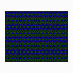 Split Diamond Blue Green Woven Fabric Small Glasses Cloth by Mariart