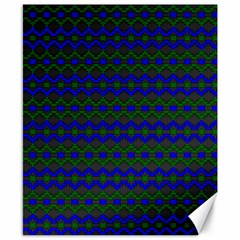 Split Diamond Blue Green Woven Fabric Canvas 8  X 10  by Mariart