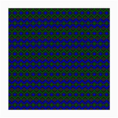 Split Diamond Blue Green Woven Fabric Medium Glasses Cloth (2 Side) by Mariart