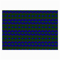 Split Diamond Blue Green Woven Fabric Large Glasses Cloth (2 Side) by Mariart