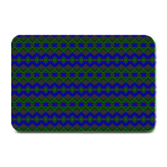 Split Diamond Blue Green Woven Fabric Plate Mats by Mariart