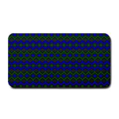 Split Diamond Blue Green Woven Fabric Medium Bar Mats by Mariart