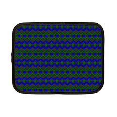 Split Diamond Blue Green Woven Fabric Netbook Case (small)  by Mariart