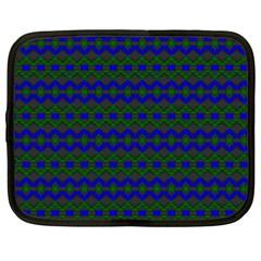 Split Diamond Blue Green Woven Fabric Netbook Case (xxl)  by Mariart