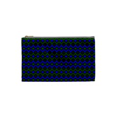 Split Diamond Blue Green Woven Fabric Cosmetic Bag (small)  by Mariart