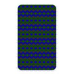 Split Diamond Blue Green Woven Fabric Memory Card Reader by Mariart