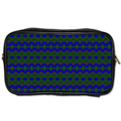 Split Diamond Blue Green Woven Fabric Toiletries Bags 2 Side by Mariart