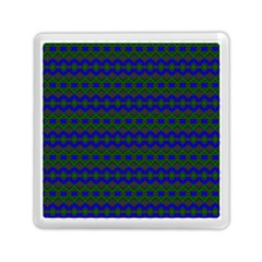 Split Diamond Blue Green Woven Fabric Memory Card Reader (square)  by Mariart