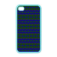 Split Diamond Blue Green Woven Fabric Apple Iphone 4 Case (color) by Mariart