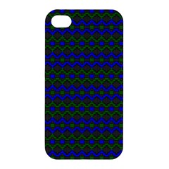 Split Diamond Blue Green Woven Fabric Apple Iphone 4/4s Hardshell Case by Mariart