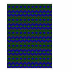 Split Diamond Blue Green Woven Fabric Small Garden Flag (two Sides) by Mariart