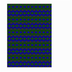 Split Diamond Blue Green Woven Fabric Large Garden Flag (two Sides) by Mariart