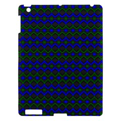 Split Diamond Blue Green Woven Fabric Apple Ipad 3/4 Hardshell Case by Mariart