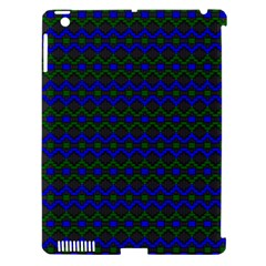 Split Diamond Blue Green Woven Fabric Apple Ipad 3/4 Hardshell Case (compatible With Smart Cover) by Mariart