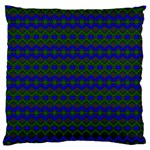 Split Diamond Blue Green Woven Fabric Large Cushion Case (Two Sides) Front