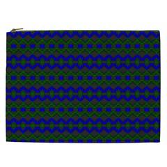 Split Diamond Blue Green Woven Fabric Cosmetic Bag (xxl)  by Mariart