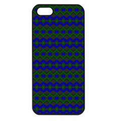 Split Diamond Blue Green Woven Fabric Apple Iphone 5 Seamless Case (black) by Mariart