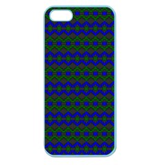 Split Diamond Blue Green Woven Fabric Apple Seamless Iphone 5 Case (color) by Mariart