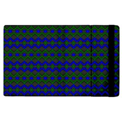 Split Diamond Blue Green Woven Fabric Apple Ipad 3/4 Flip Case by Mariart