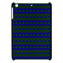 Split Diamond Blue Green Woven Fabric Apple Ipad Mini Hardshell Case by Mariart