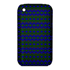 Split Diamond Blue Green Woven Fabric Iphone 3s/3gs by Mariart