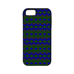 Split Diamond Blue Green Woven Fabric Apple Iphone 5 Classic Hardshell Case (pc+silicone) by Mariart