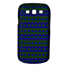 Split Diamond Blue Green Woven Fabric Samsung Galaxy S Iii Classic Hardshell Case (pc+silicone) by Mariart