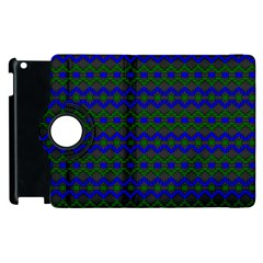 Split Diamond Blue Green Woven Fabric Apple Ipad 3/4 Flip 360 Case by Mariart