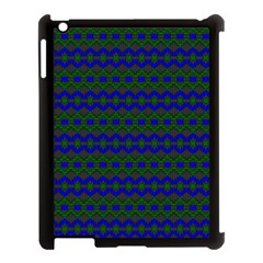 Split Diamond Blue Green Woven Fabric Apple Ipad 3/4 Case (black) by Mariart