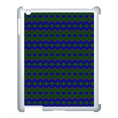 Split Diamond Blue Green Woven Fabric Apple Ipad 3/4 Case (white) by Mariart