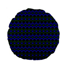 Split Diamond Blue Green Woven Fabric Standard 15  Premium Round Cushions by Mariart