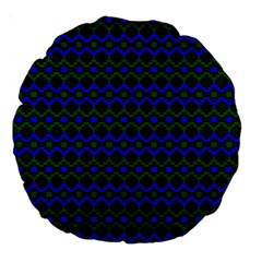 Split Diamond Blue Green Woven Fabric Large 18  Premium Round Cushions by Mariart