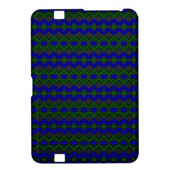 Split Diamond Blue Green Woven Fabric Kindle Fire Hd 8 9  by Mariart