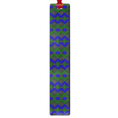Split Diamond Blue Green Woven Fabric Large Book Marks by Mariart