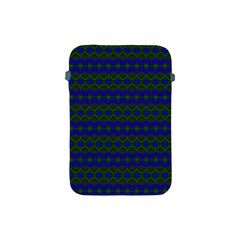Split Diamond Blue Green Woven Fabric Apple Ipad Mini Protective Soft Cases by Mariart
