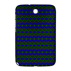 Split Diamond Blue Green Woven Fabric Samsung Galaxy Note 8 0 N5100 Hardshell Case  by Mariart
