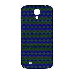 Split Diamond Blue Green Woven Fabric Samsung Galaxy S4 I9500/i9505  Hardshell Back Case by Mariart