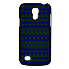 Split Diamond Blue Green Woven Fabric Galaxy S4 Mini by Mariart