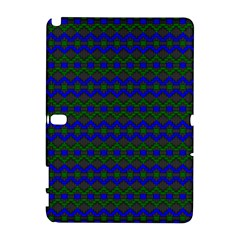 Split Diamond Blue Green Woven Fabric Galaxy Note 1 by Mariart