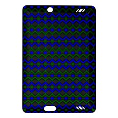 Split Diamond Blue Green Woven Fabric Amazon Kindle Fire Hd (2013) Hardshell Case by Mariart