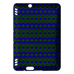 Split Diamond Blue Green Woven Fabric Kindle Fire Hdx Hardshell Case by Mariart