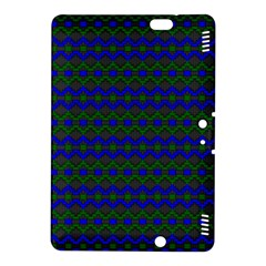 Split Diamond Blue Green Woven Fabric Kindle Fire Hdx 8 9  Hardshell Case by Mariart