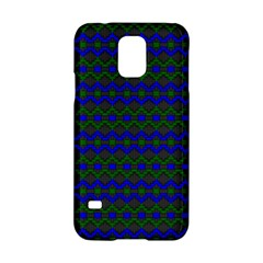 Split Diamond Blue Green Woven Fabric Samsung Galaxy S5 Hardshell Case  by Mariart