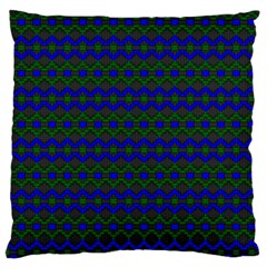 Split Diamond Blue Green Woven Fabric Standard Flano Cushion Case (one Side) by Mariart