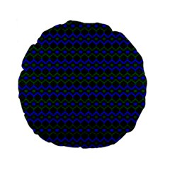 Split Diamond Blue Green Woven Fabric Standard 15  Premium Flano Round Cushions by Mariart