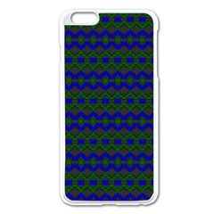 Split Diamond Blue Green Woven Fabric Apple Iphone 6 Plus/6s Plus Enamel White Case by Mariart