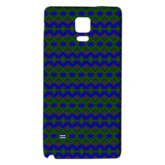 Split Diamond Blue Green Woven Fabric Galaxy Note 4 Back Case by Mariart