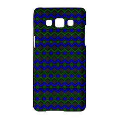 Split Diamond Blue Green Woven Fabric Samsung Galaxy A5 Hardshell Case  by Mariart