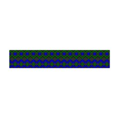 Split Diamond Blue Green Woven Fabric Flano Scarf (mini) by Mariart