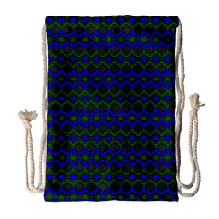Split Diamond Blue Green Woven Fabric Drawstring Bag (large) by Mariart